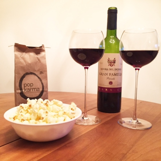 scandal wine popcorn