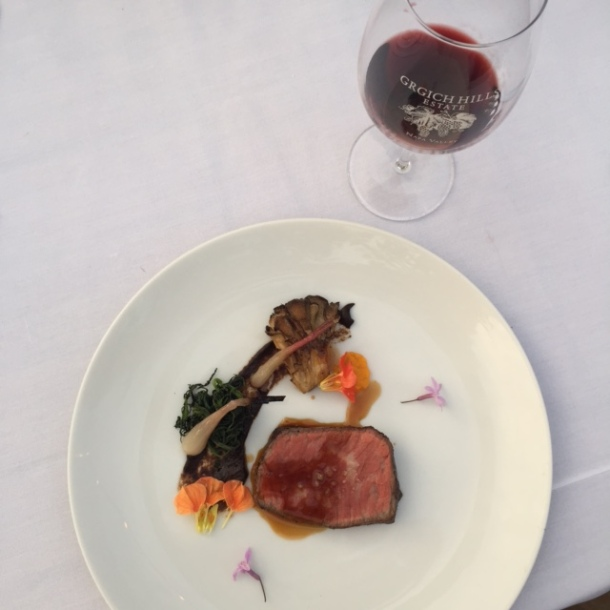 wagyu beef and Korean black garlic with the 2006 Yountville Cabernet