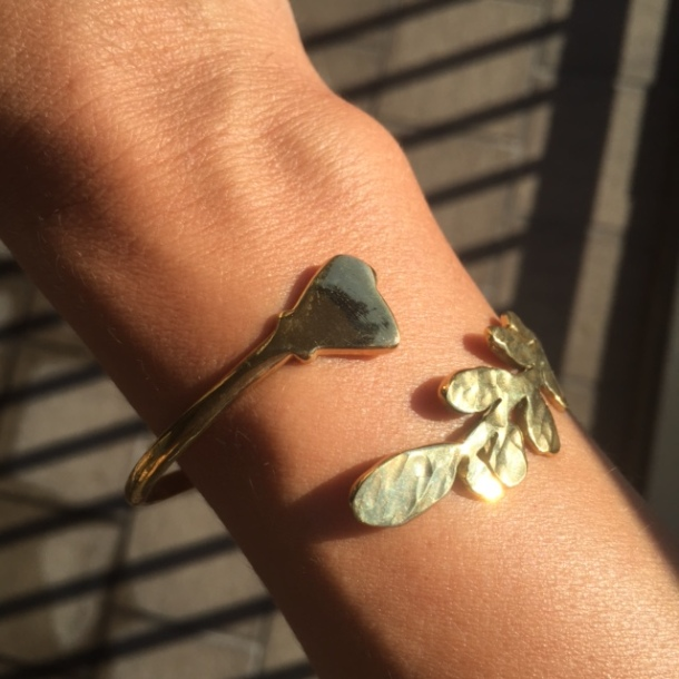 olive poppy bangle