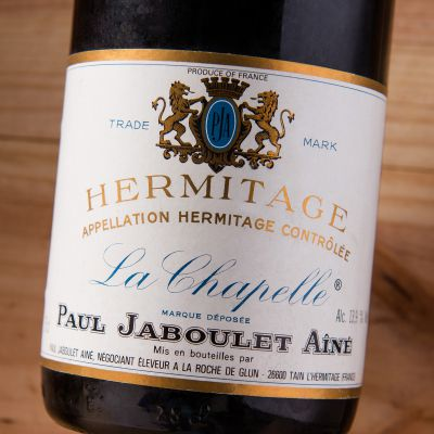 "The Jaboulet Aine ""La Chapelle"" has tons of violets balanced by a savory meatiness and a muscular, chewy structure. $225"