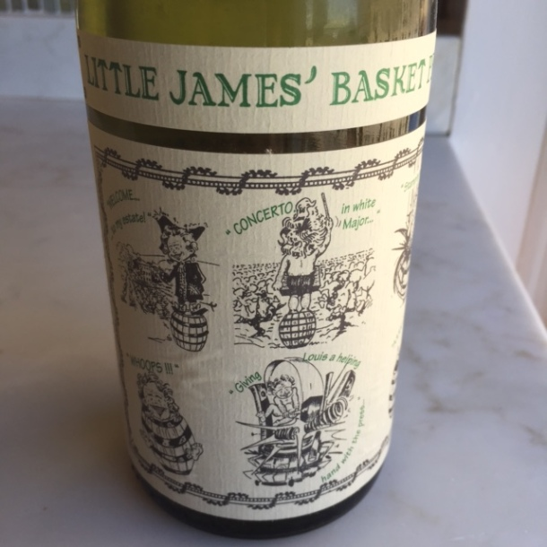 Little James' Basket Press 2014 is from the Pays d'Oc (Minervois). Crisp yellow apple skins and yellow florals with great acidity - love it. $13