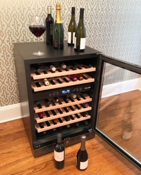 your new chic wine fridge